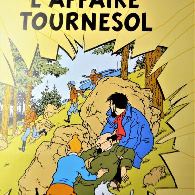 TINTIN HERGE AFFICHE l'Affaire Tournesol