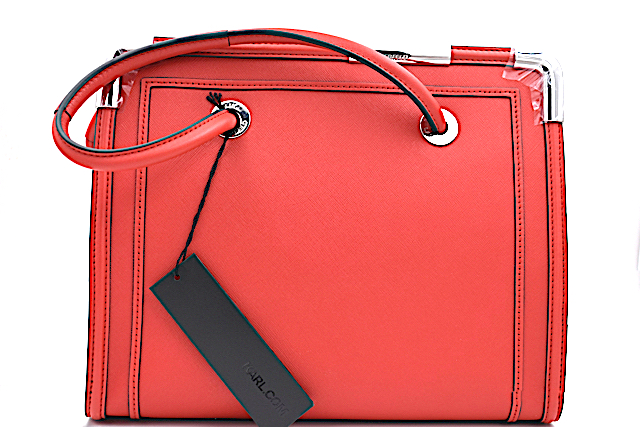 Karl lagerfeld sac a main rocky saffiano rouge