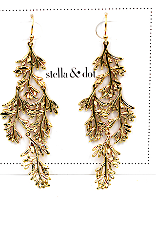 Stella dot boucles grace chandeliers