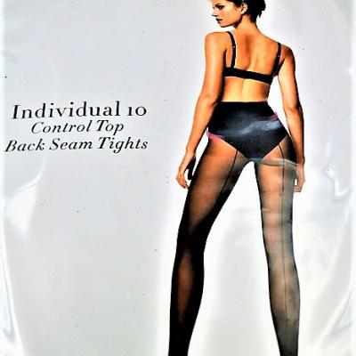 Wolford collant individual 10 control top back seam tights